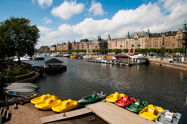 View of Östermalm from Djurgården Island, the priciest part of the city with trendy nightclubs and expensive real estate - Photography by Lola Akinmade Åkerström